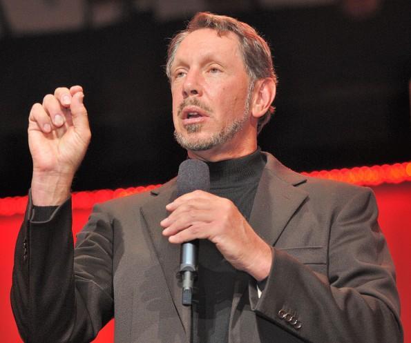 Larry Ellison on stage by Oracle Corporate Communications - Licensed under CC BY 2.0