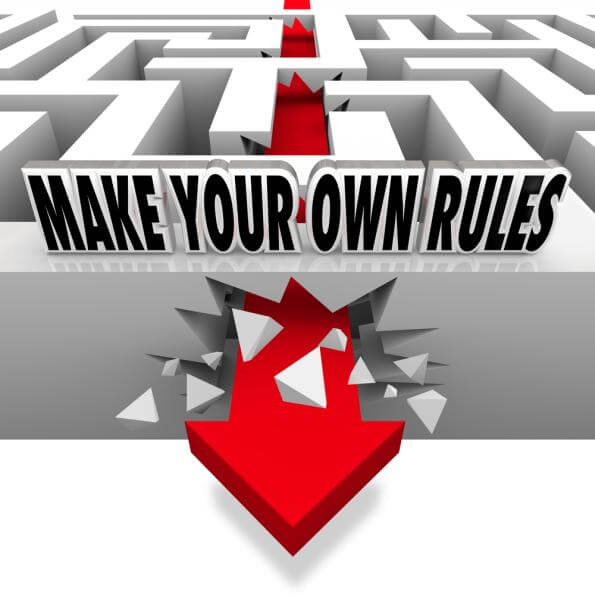 To Innovate You Need to Make Your Own Rules